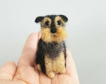 Yorkshire terrier ornament, Needle felted dog, Custom pet portrait, Dog memorial, Yorkie figurine