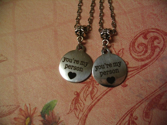 youre my person necklace set jewelry gift by accenttreasures
