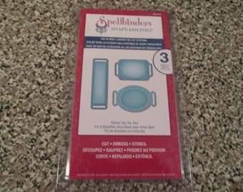 Spellbinders, Shapeabilities Ribbon Tag Trio Two Template