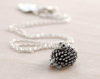 Adorable Teeny Tiny Forest Hedgehog Necklace