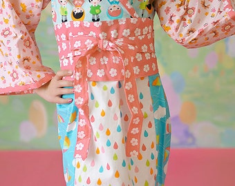 Girls Kimono Dress - Whatever the Weather Dress - Girls Kawaii Dress