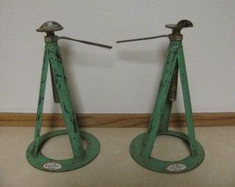 Hi-Valu Brophy Products Stabilizing Trailer Jacks, Camp Trailer, Vintage, Industrial Candle Holder, Lamp Base Rustic Americana