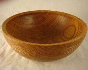Simple Maple Wood Salad Bowl