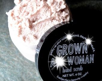 Grown A** Woman Hand Scrub. 4 oz / 30 mL. Garden Soap. Pumice Soap for Women. Gardener Gift. Gardening Gift. Hand Scrub. Gardener Hand Scrub