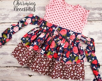 Toddler Girl Clothes, Girls Dress, Party Dress, Midnight Garden by Charming Necessities Toddler Girl Boutique Clothes French Vintage
