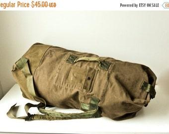 ON SALE US Army Duffel Bag, 1950s Military Duffel Bag, Field Bag, Army Ruck Sack