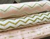 Pink arrow chevron burp trio