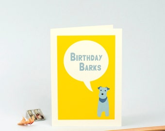 Dog Birthday Card - Dog Greetings Card - Terrier Birthday Card - Card for Dog Lover