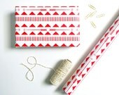 Gift Wrap Red Tribal Holiday Wrapping Paper Roll Christmas Scrapbook Paper