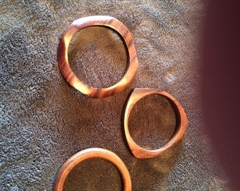 Set of 3 vintage wood bracelets