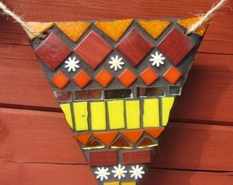 mosaic bunting outdoor garland