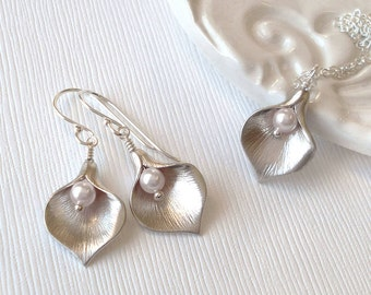Calla Lily Jewellery Set