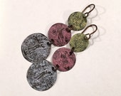 Painted Brass Faux Coin earrings (204)