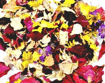 Dried Flowers - Flower Confetti - Wedding Flower Petals - Ecofriendly Wedding  - Dried Flower Petals - Dried Flowers for Crafts - 1 Cup