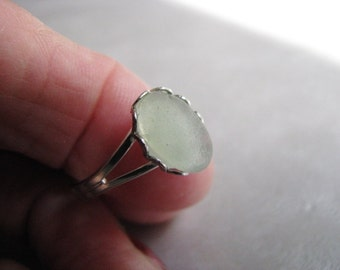 Sea Glass Ring - Seafoam Sea Glass - Beach Glass Ring -  Beach Glass Jewelry - Beach Glass