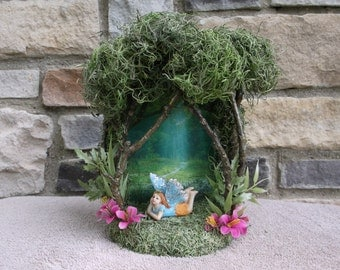 Forest Fairy display with figurine
