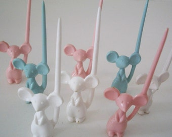Vintage Mouse Hors d' oeuvre/appetizer Picks Baby Shower