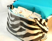 Large Coupon Holder, Coupon Organizer, Coupon Purse, Ready to Ship,Waterproof Zebra Fabric