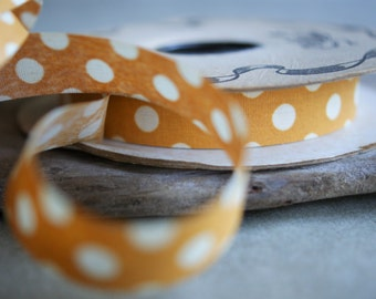 Vintage Lion Brand Orange Polka Dot Craft Ribbon for Fall Autumn Crafting Weather Proof