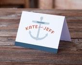 Custom Nautical Wedding Thank You Notes