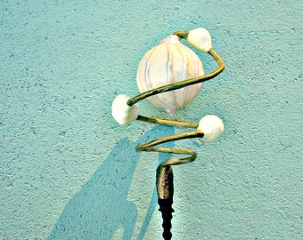 Toy Wand, Handmade Wire Wand with Paper Mache Accents: Hocus Pocus