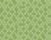 Scales in Green 6141606-01 Cotton Quilt Fabric 1/2 yd cuts