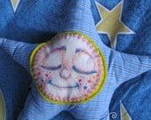 Wishing Star Plush: Bubby - Unique Plush Pillow Type Toy with Hand Painted Canvas Face