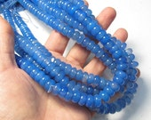 Summer Sale Lovely Cornflower Blue Onyx 10mm Rondelle Gemstone Beads, 16 Inches