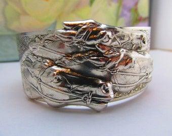 Horse jewelry Equestrian jewelry Horse bracelet Derby cuff silver over bronze Top Seller Top Selling Store Angelina Verbuni Design Studio