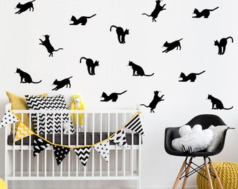 Cats pattern wall decal