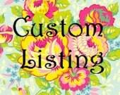 Custom Listing for Katie Rongey