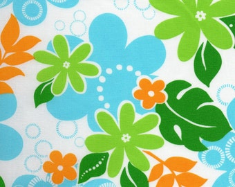 White Tropics Print 100% Cotton Quilting Fabric