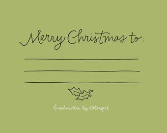 Christmas Addressing Stamp: Handwritten, Snail Mail