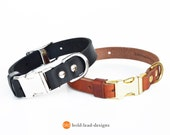 Adjustable Leather Quick-Release Dog Collar