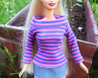 Barbie Doll Clothes, Top and Skirt