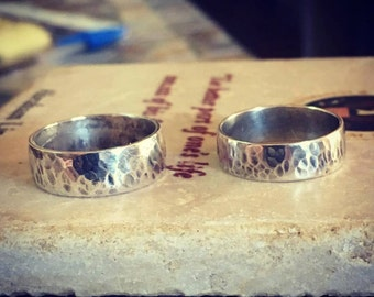 Hammered Sterling Silver (925) - Hand Crafted in Vermont - Made to Order