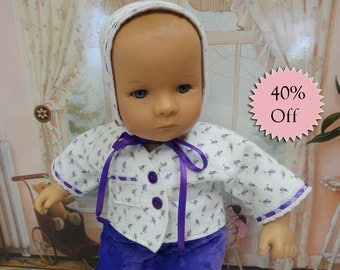 Bitty Baby playtime outfit - Dainty Purple Rosebud **Sale**