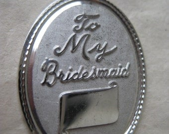 Bridesmaid Sterling Charm Silver Vintage 925 Gift Wedding Engrave