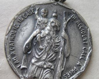 Catholic Call a Priest Pendant Medallion Charm Silver Christian
