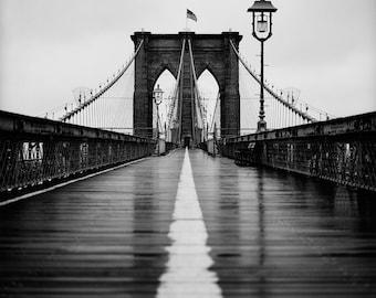 Brooklyn Bridge In Rain