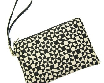 SALE - Ready to Ship - Padded Zipper Case - Alexander Girard Fabric by Maharam - Detachable Wristlet