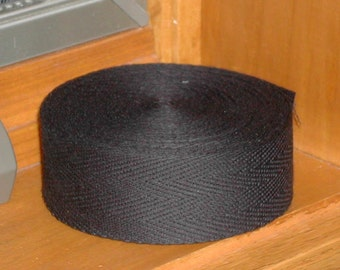 BLACK BINDING TAPE 10 yards for use in rug hooking