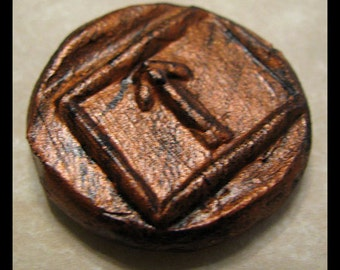 Leadership, Victory, TIWAZ, Pocket Rune to help in legal matters, New Age, Metaphysical, Wiccan, Pagan, Viking, Ancient Coint Style Rune