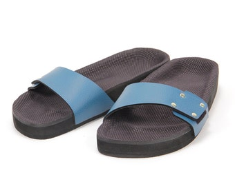 Marine One-Strap Sandal by Mohop - Vegan, Handmade in USA