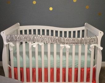 Crib Teething Guard, Crib Rail Covers Protectors - Long Crib Side