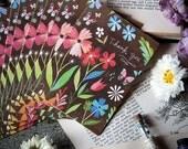 Kraft Flowers Notecard Set    Blank Cards   Stationery   Katie Daisy