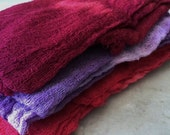 Hand Dyed Cheesecloth Set of 3 Cherry Bomb