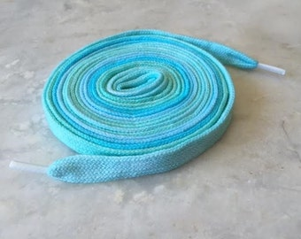 Hand Dyed High Top Shoelaces (63 inch) Sea Salt