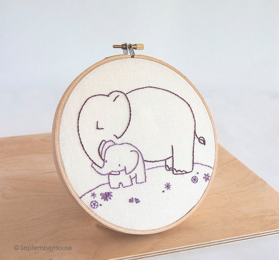 Hand embroidery patterns baby animals beginner by