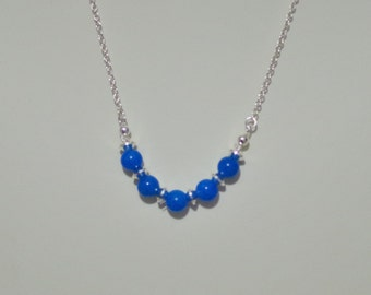 Gemstone & Silver Filled Necklace - Mountain Jade - Several Colors Available